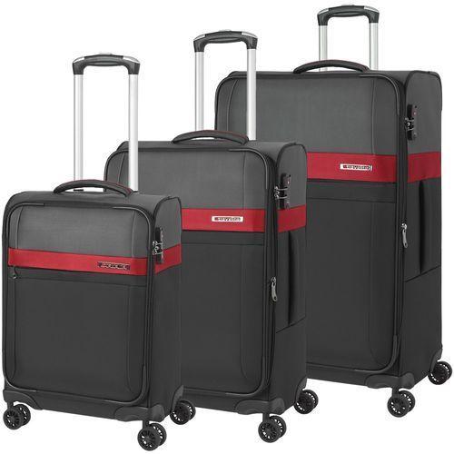 17ee494c3c3d9 stream zestaw walizek / komplet / walizki na 4 kółkach / czarny - czarny  marki Travelite