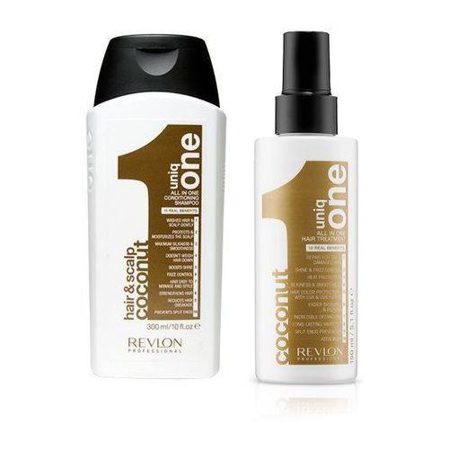 Revlon Uniq One Coconut Zestaw: szampon 300ml + kuracja 150ml
