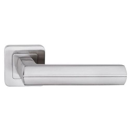 Klamka drzwiowa viva kwadratowy szyld nikiel satyna marki Metalbud