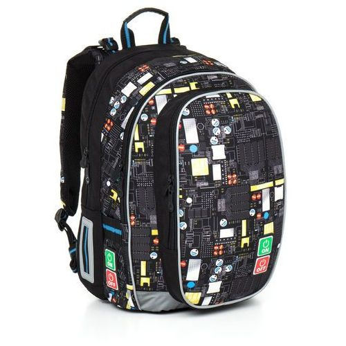 Plecak szkolny  chi 797 a - black wyprodukowany przez Topgal