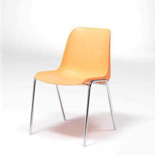 Krzesło plastikowe Sierra, pomarańczowy