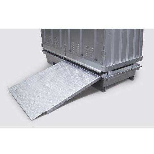 Rampa najazdowa, ocynk., dł. x szer. 1200x1000 mm. marki Lacont umwelttechnik