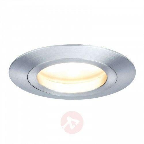 Aluminiowa lampa wpuszczana led coin ip44 marki Paulmann