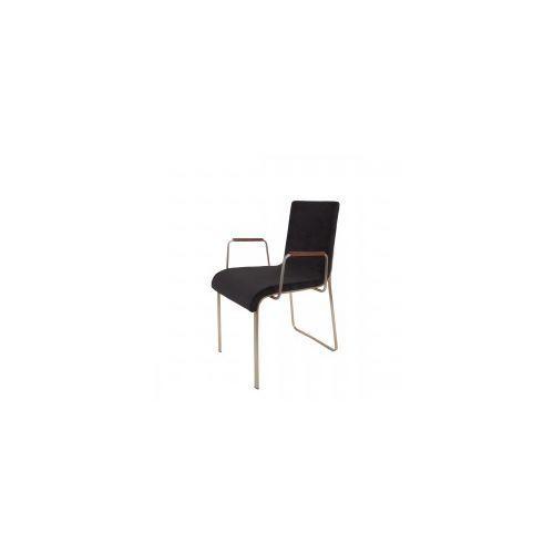 Krzesło FLOR z podłokietnikami czarne - Dutchbone, 1200129