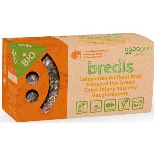 Chleb lniany suszony z cebulą i czosnkiem bezglutenowy bio 70 g - papagrin marki Papagrin (przekąski raw)