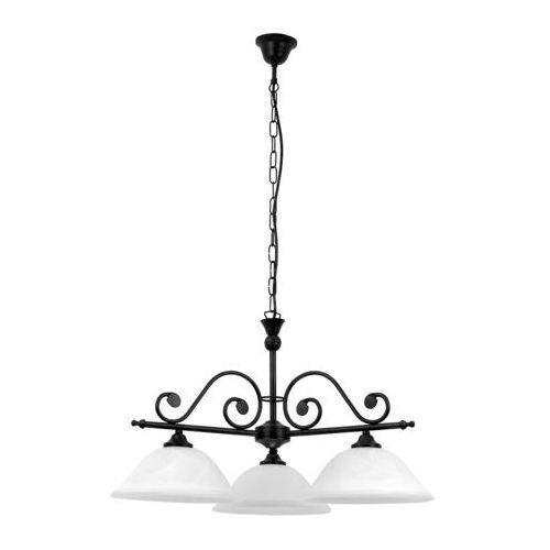 Lampa wisząca Rabalux Dorothea 3x60W E27 czarny mat/biały 7773