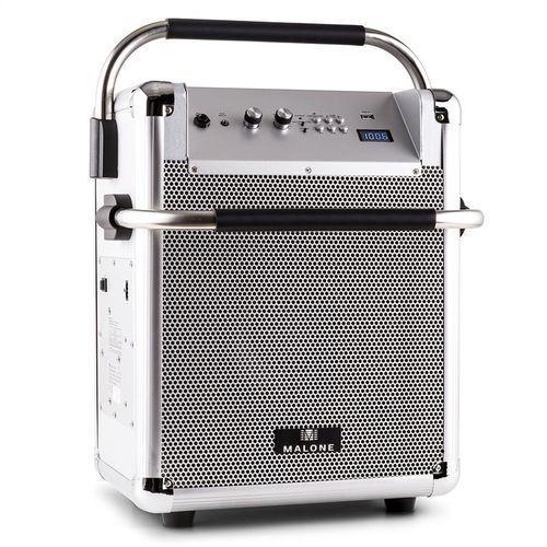 Malone  rock fortress kolumna nagłośnieniowa usb bluetooth radio okf aux 50 w maks. srebrna, kategoria: pozostały sprzęt nagłośnieniowy i studyjny