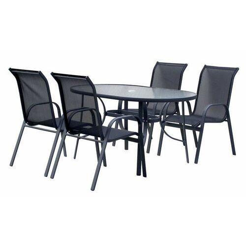 Hecht czechy Hecht ekonomy set 4 meble ogrodowe zestaw mebli ogrodowych stół + 4 krzesła stal aluminium szkło - ewimax oficjalny dystrybutor - autoryzowany dealer hecht (8594061748237)