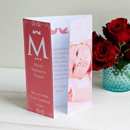 Mygiftdna Z okazji chrztu dziewczynki - kartka składana z życzeniami - kartka z życzeniami