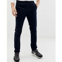 Burton Menswear slim fit elasticated waistband joggers in navy - Blue