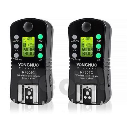 Yongnuo rf-605n zestaw 2 nadajników/odbiorników (stopka nikon) (6947110919157)