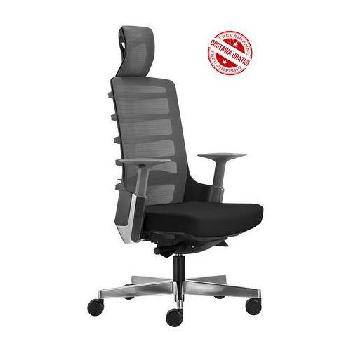 Unique Fotel biurowy spinelly 999b - czarny, wysuw siedziska + 21 kolorów siedziska