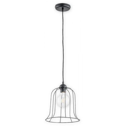 Lemir Dzwonek O2711 W1 CZA lampa wisząca zwis 1x60W E27 czarny mat, O2711 W1 CZA