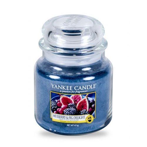 Świeca YANKEE słoik średni Mulberry & Fig Delight - YSSMFD (5038581016610)