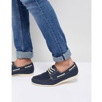New look boat shoes in navy - navy