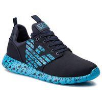 Sneakersy EMPORIO ARMANI - X8X007 XK073 A995 Navy/Hawaiian Ocean, w 3 rozmiarach