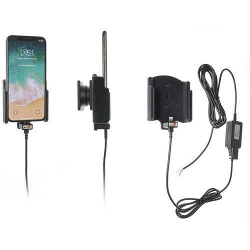 Uchwyt do Apple iPhone X z wbudowaną ładowarką samochodową do instalacji na stałe
