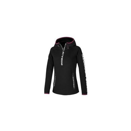 Damska bluza z kapturem pit bull sport 3 - czarna (147020.9000) marki Pit bull west coast / usa