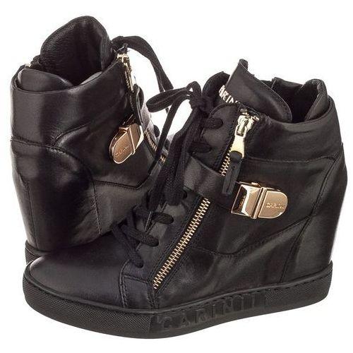 Sneakersy Carinii Czarne Licowe Gładkie B4095 (CI258-d), w 3 rozmiarach