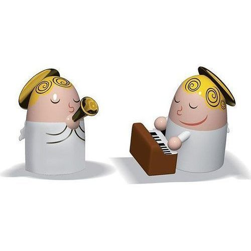 A di alessi Porcelanowe figurki angels band trąbka i pianino (8003299966813)