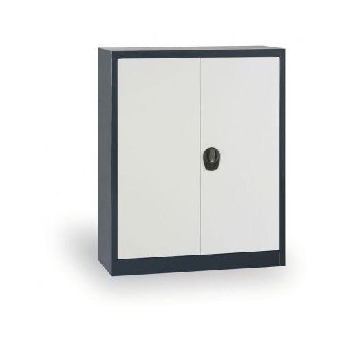 Szafa metalowa, 1150x920x400 mm, 2 półki, antracyt/szary marki Alfa 3