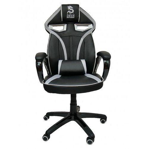 Fotel obrotowy gamingowy DRAGON Black/White/Black