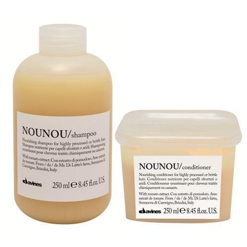 Davines Nounou | Zestaw do włosów zniszczonych: szampon 250ml + odżywka 250ml (9753197531214)