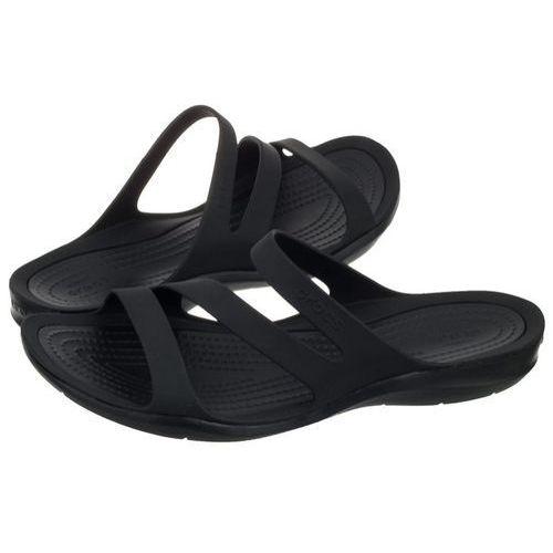 Klapki Crocs Swiftwater Sandal W Black 203998-060 (CR120-e), kolor czarny