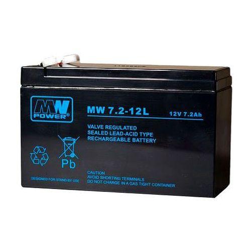 Import Akumulator 12v 7.2 ah mw agm mwpower 6-9 lat szczelny z szerszym konektorem