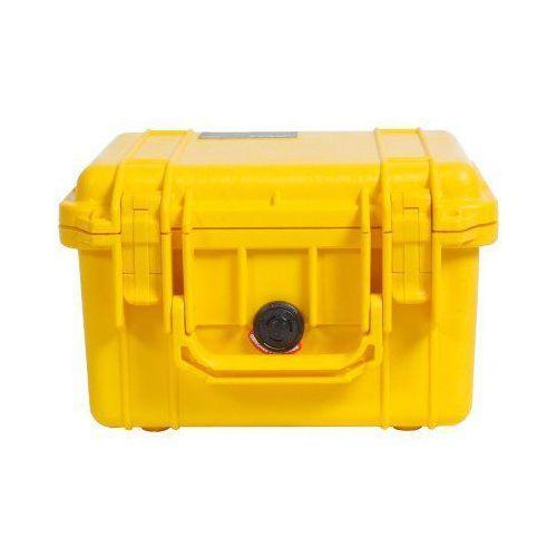 Peli box 1300 pudełko z tworzywa sztucznego, z wkładką z pianki, żółty (0019428012090)