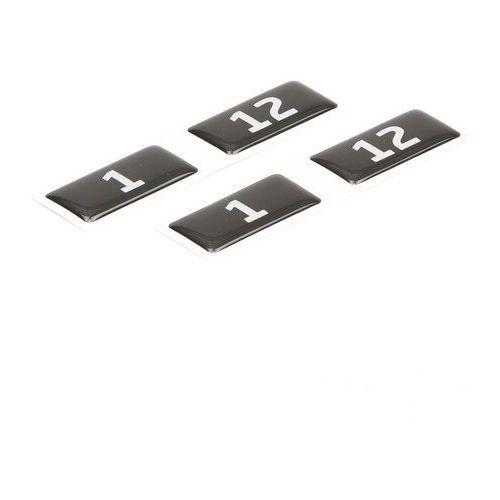 Naklejki z numerami do szafek, 40x20 mm, 1-500, czarno-biały marki Aj produkty