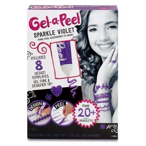 Gel-a-peel zestaw startowy brokatowy fiolet marki Mga