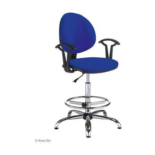 Krzesło specjalistyczne smart gtp27 steel02 ring base chrome marki Nowy styl