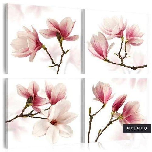 Selsey obraz - romantyczny róż 80x80 cm