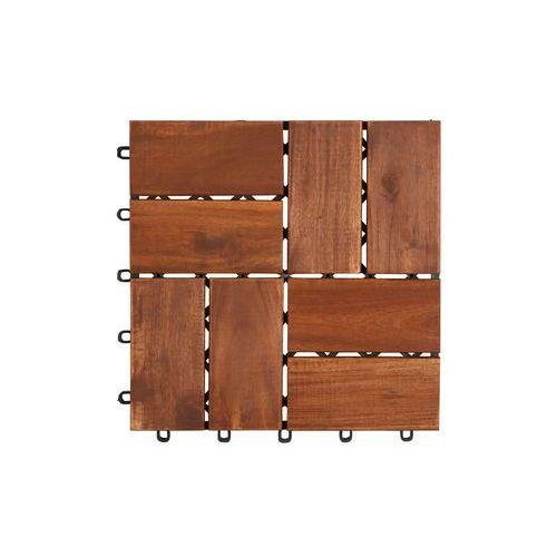 Deski tarasowe modułowe płytki 30x30cm akacja 8 klepek od producenta Ogrody leandro