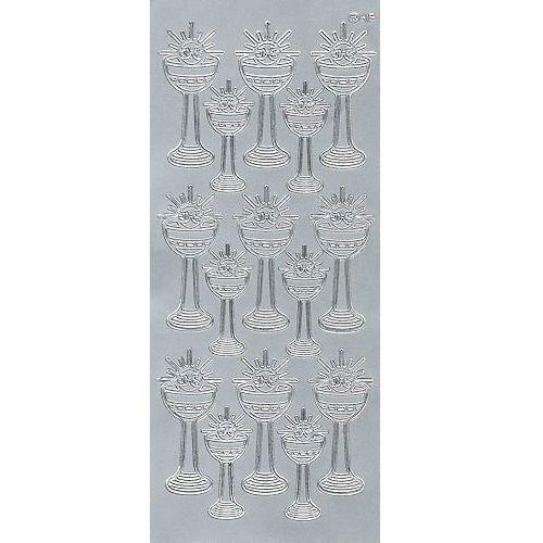 Herma Sticker srebrny 20940 - kielich z hostią duży x1