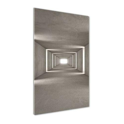 Foto obraz akryl do salonu betonowy tunel marki Wallmuralia.pl