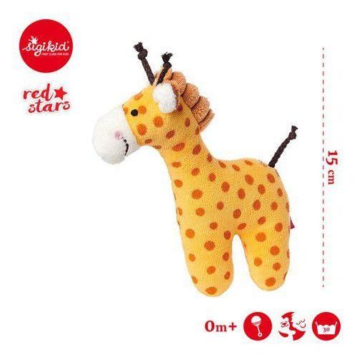 Sigikid Miękka mini-grzechotka żyrafa red stars -