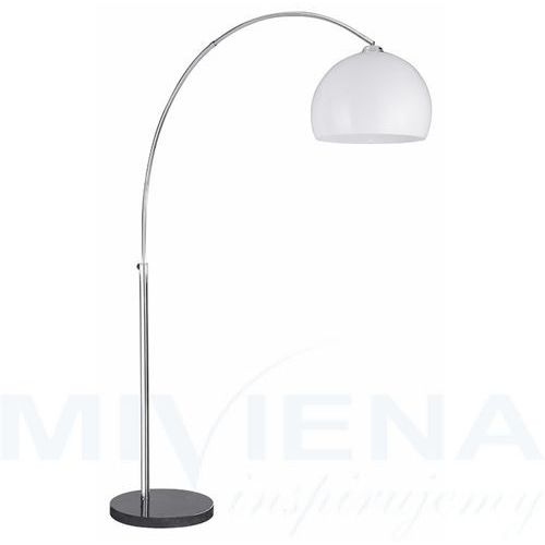 Searchlight Arcs lampa podłogowa 1 chrom abażur tworzywo sztuczne (5013874369222)