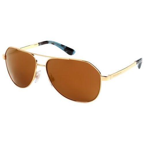Okulary Słoneczne Dolce & Gabbana DG2144 Sicilian Taste 02/F9, kolor żółty