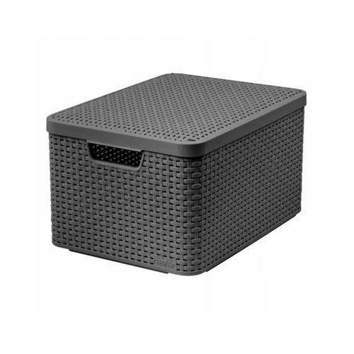Koszyk do przechowywania z pokrywą style box l v2 + lid - drg308 ciemnoszary marki Curver poland
