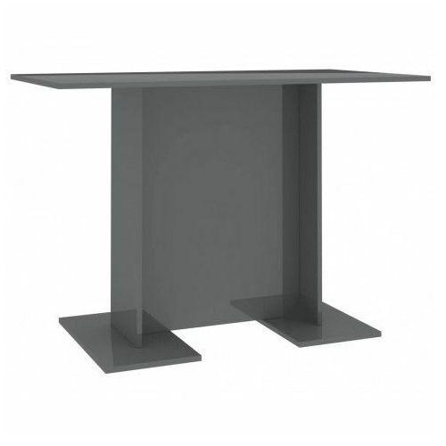 Szary nowoczesny stół z połyskiem - Rivers