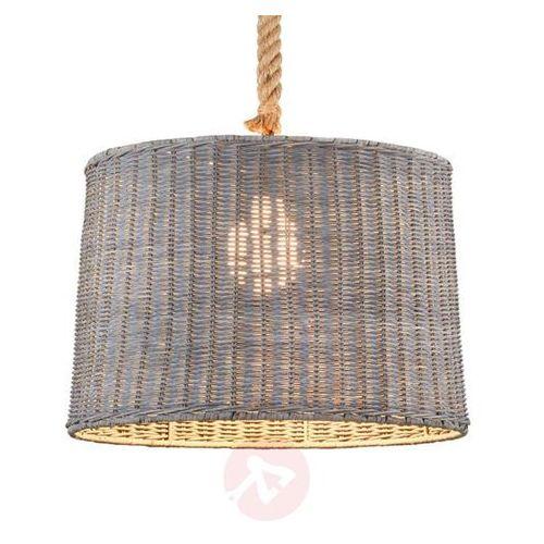 Trio -leuchten rotin lampa wisząca siwy, 1-punktowy - dworek - obszar wewnętrzny - rotin - czas dostawy: od 2-4 dni roboczych (4017807349160)