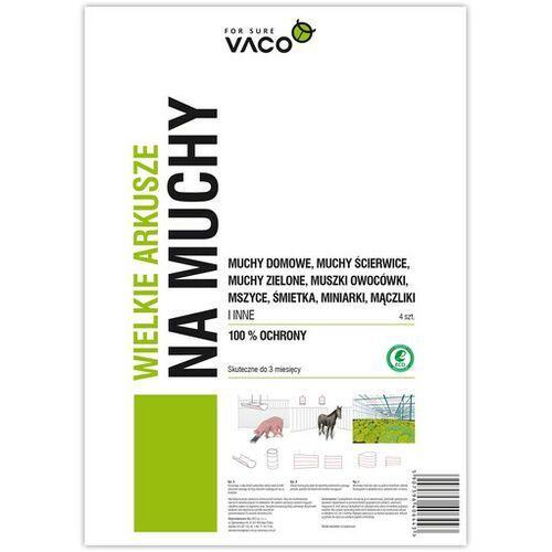 eco lep na muchy duży 60 cm x 30 cm 4 szt. - darmowa dostawa od 95 zł! marki Vaco