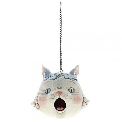 Jim shore Kotek szara budka lęgowa kot grey cat birdhouse 6001602 królik vintage biały
