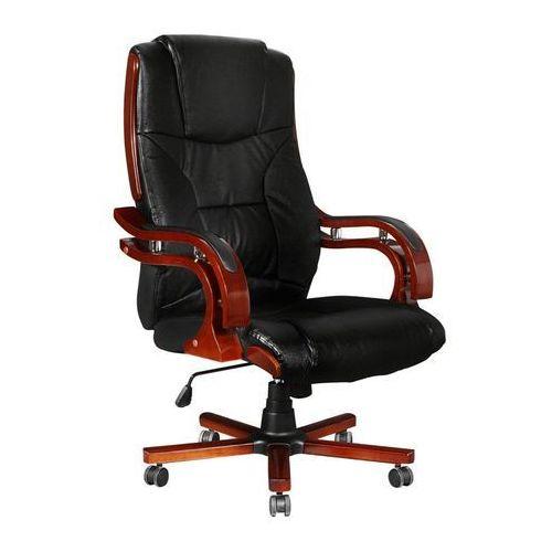 Vidaxl skórzany fotel biurowy z wysokim oparciem