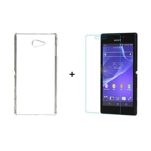 Zestaw szkło ochronne perfect glass + obudowa ultra slim przezroczysta sony xperia m2 / m2 aqua marki Ultra slim / perfect glass