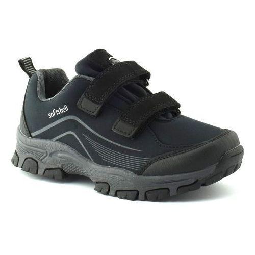 Dziecięce buty sportowe American Club WT09/19 Czarne - Czarny, kolor czarny