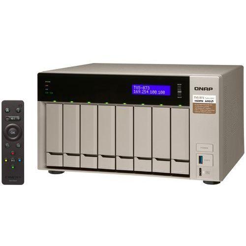 QNAP TVS-873-64G - AMD RX-421BD / 64 GB / 2 x HDMI / 4 x Gigabit LAN / 8-dyskowy, TVS-873-64G