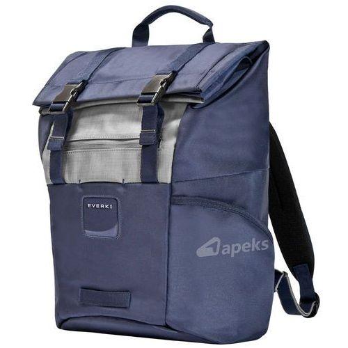 Everki contempro roll top plecak na laptopa 15,6'' / granatowy - navy